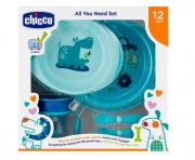 Kit de prato com copo para bebês Azul - Chicco (12 meses +)