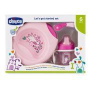 Kit de prato com copo para bebês Rosa - Chicco (6 meses +)