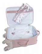 Mala de rodinha de maternidade Flora rosa - Masterbag Baby