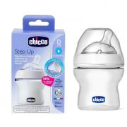 Mamadeira transparente Anti-refluxo Step Up 150Ml - Chicco