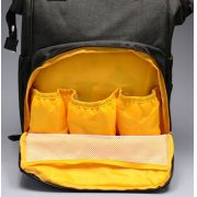 Mochila Maternidade Diaper Bag Laranja e Preto