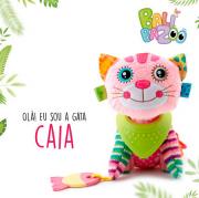 Pelúcia com mordedor e chocalho Balibazoo - Gatinha Caia