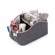 Porta fraldas e organizador de higiêne para bebês Jeans - Lequiqui