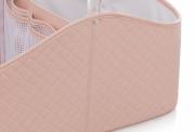 Porta fraldas e organizador de higiêne para bebês Rosa - Lequiqui