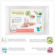 Travesseiro Toque de Rosa Baby Antissufocante - Fibrasca