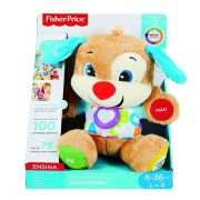 Urso de pelúcia musical Fisher Price Cachorrinho Smart Stages