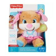 Urso de pelúcia musical Fisher Price Irmã Do Cachorrinho Aprender e Brincar