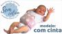 Almofada com Cinta Térmica de Ervas Naturais para Alívio das Cólicas e Gases Coroa Azul - Bebê sem Cólica