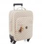 Kit bolsa Maternidade e mala de rodinha escocesa creme - Lequiqui