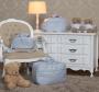 Kit Bolsa  Maternidade Glamour Azul 03 pçs