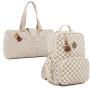 Kit de bolsas Maternidade escocesa caramelo 2pcs Bolsa viagem e mochila - Lequiqui