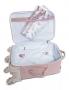 Kit Mala de rodinha e Bolsa maternidade rosa Flora - Masterbag Baby