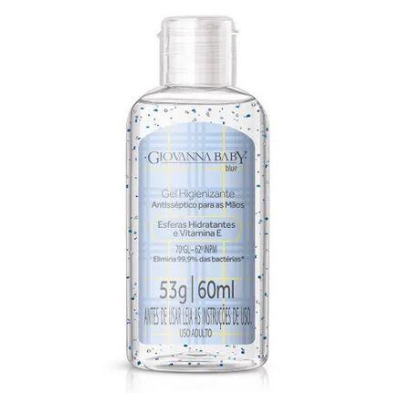 Álcool gel 70% higienizante para as mãos 60ml Azul - Giovanna Baby