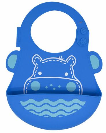 Babador de silicone  Hipopótamo - Marcus e Marcus