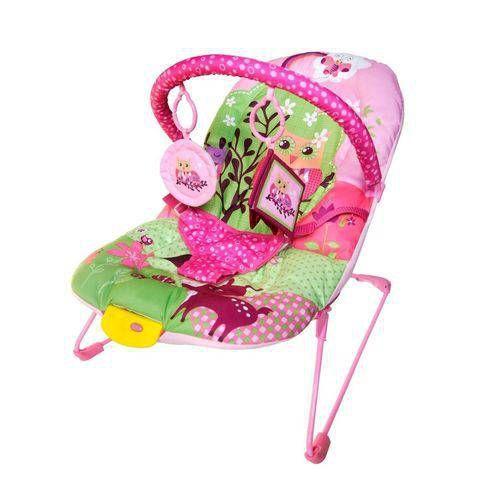 Cadeira de descanso vibratória musical soft ballagio Rosa color Baby até 9kgs