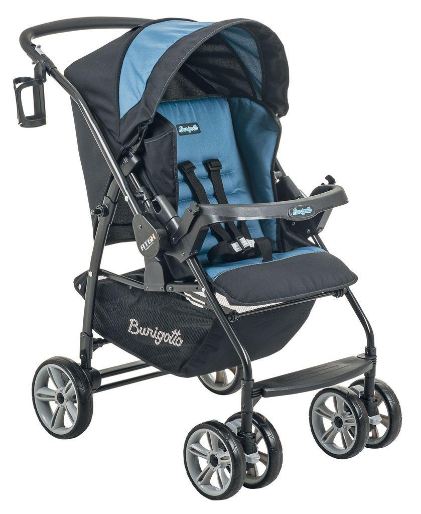 Carrinho de bebê Burigotto AT6 K Preto e Azul