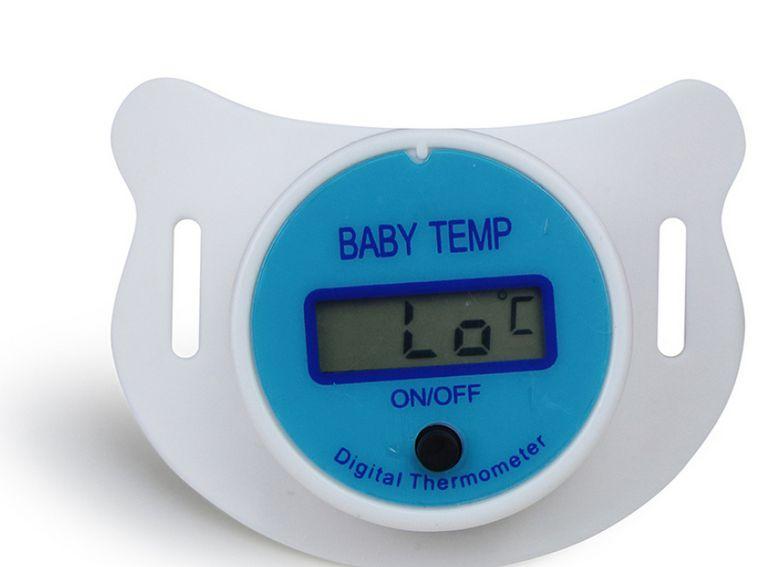 Chupeta Termômetro Azul