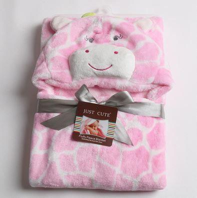 Cobertor de bebê bichinhos Girafa Rosa
