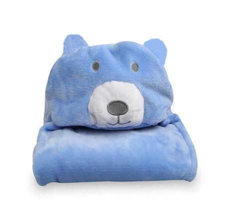 Cobertor de bebê bichinhos Urso Azul