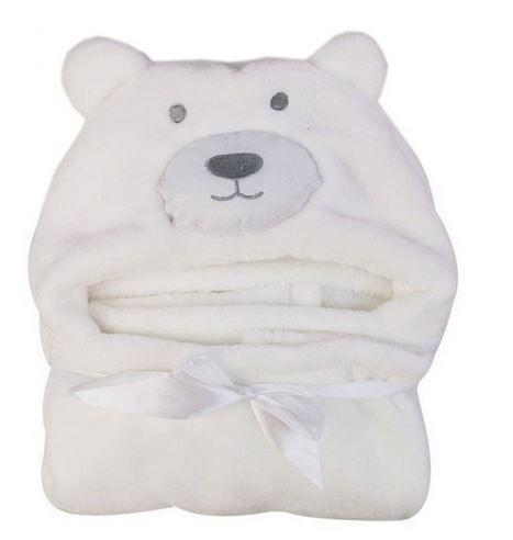 Cobertor de bebê bichinhos Urso Branco