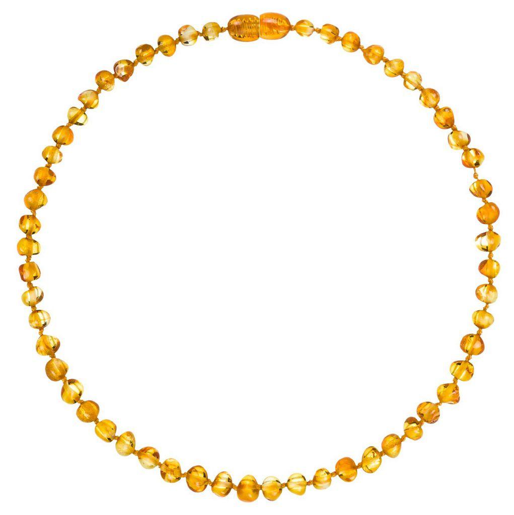 Colar Âmbar Baroque Honey 36 cm - Para dentição