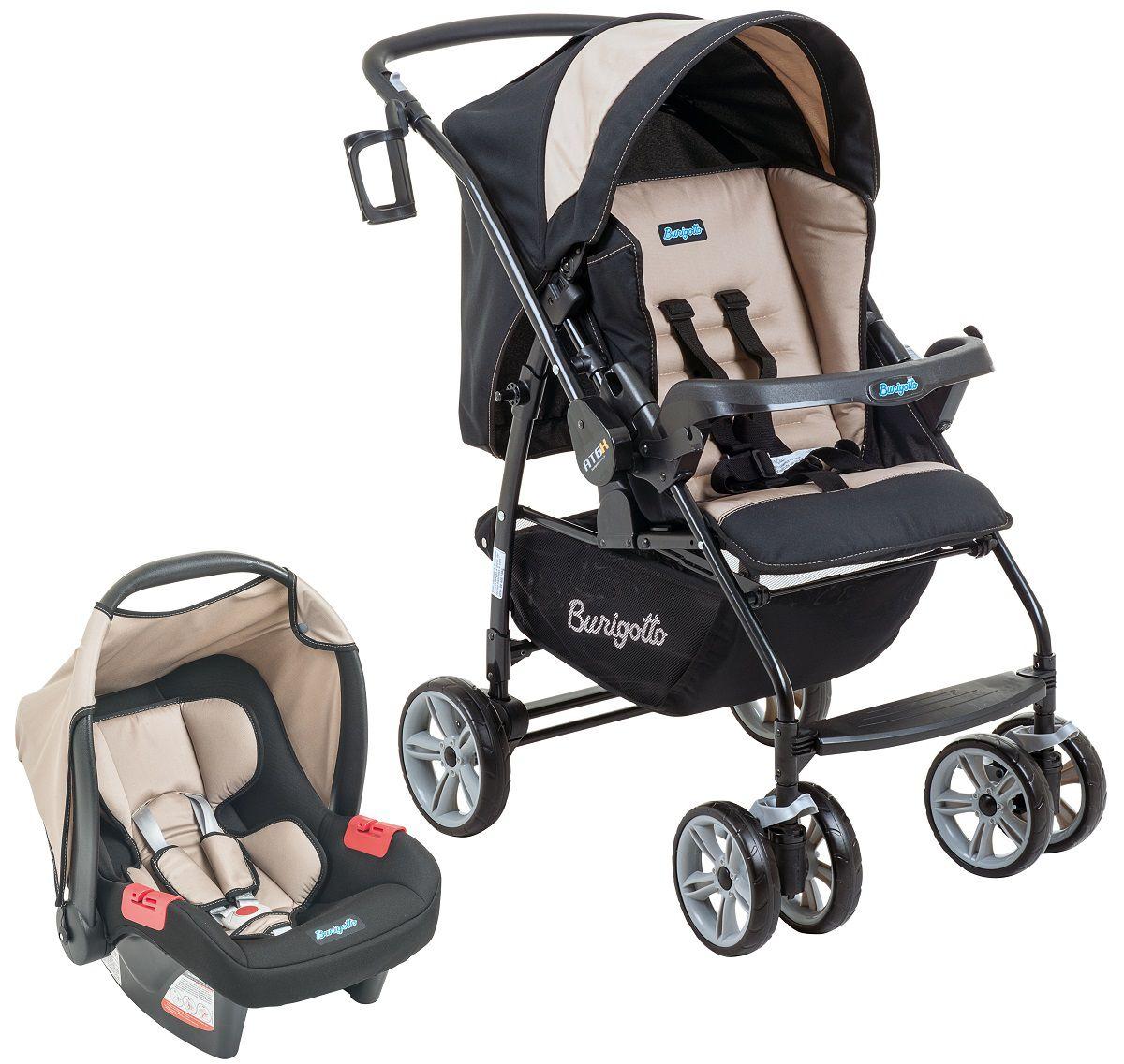 Conjunto Carrinho de bebê + bebê conforto AT6 K+Touring Evol SE Bege