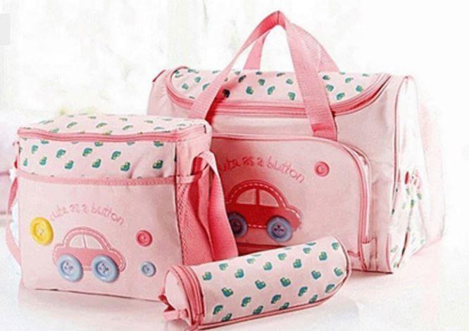 Conjunto de bolsa maternidade - Carro Kit 4 peças