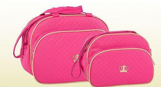 Conjunto de bolsa maternidade - Coroa Pink