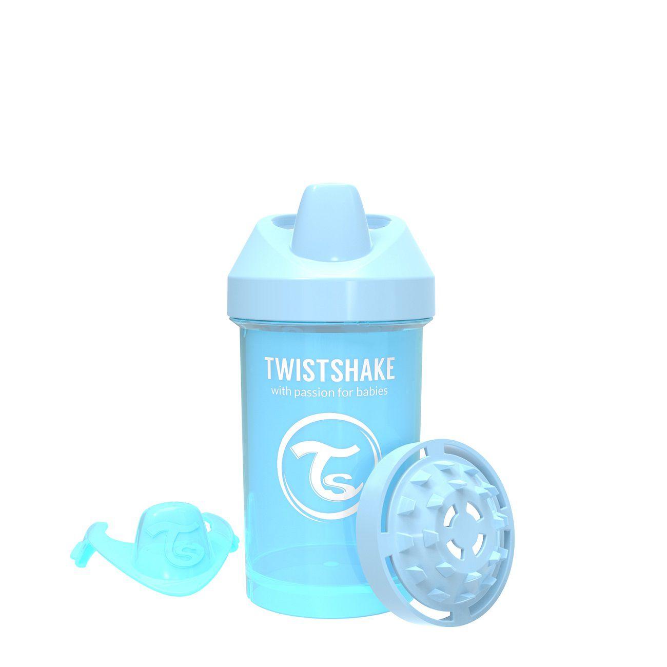 Copo de Treinamento médio Twistshake Antivazamento - Azul (300ml / 8+M)