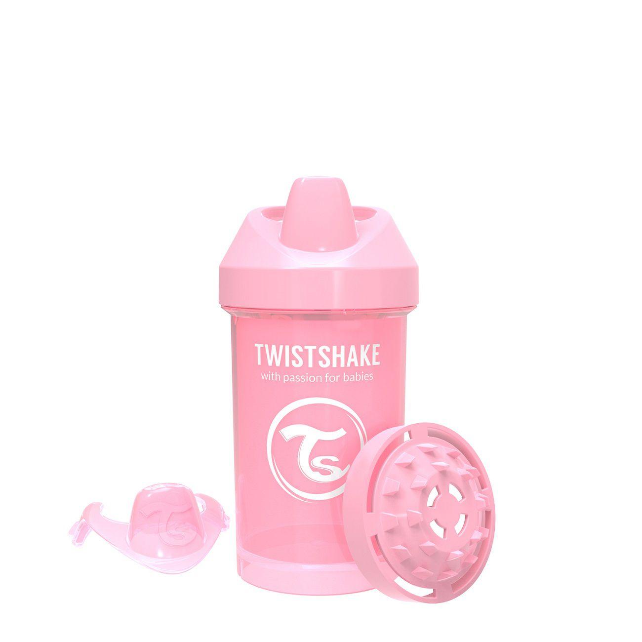 Copo de Treinamento médio Twistshake Antivazamento - Rosa (300ml / 8+M)