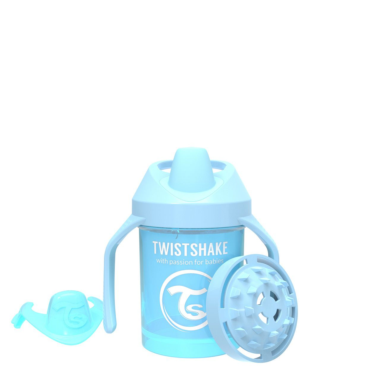 Copo de Treinamento Pequeno Twistshake Antivazamento - Azul (230ml / 4+M)