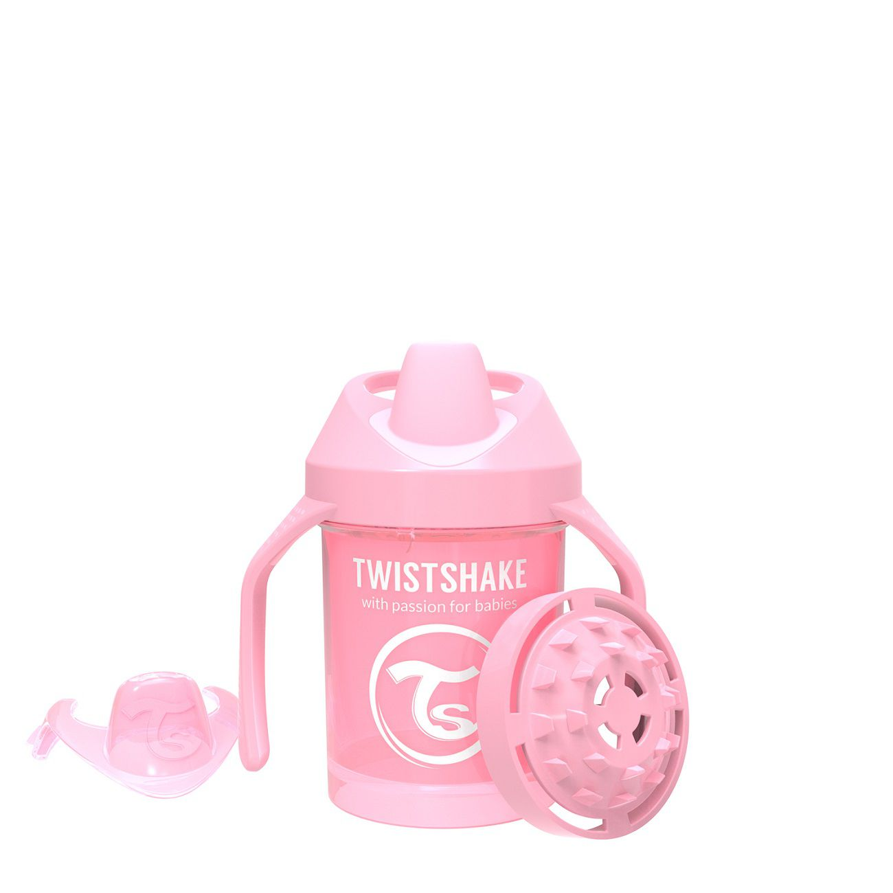 Copo de Treinamento Pequeno Twistshake Antivazamento - Rosa (230ml / 4+M)