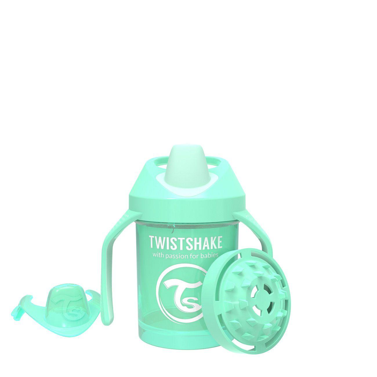 Copo de Treinamento Pequeno Twistshake Antivazamento - Verde (230ml / 4+M)