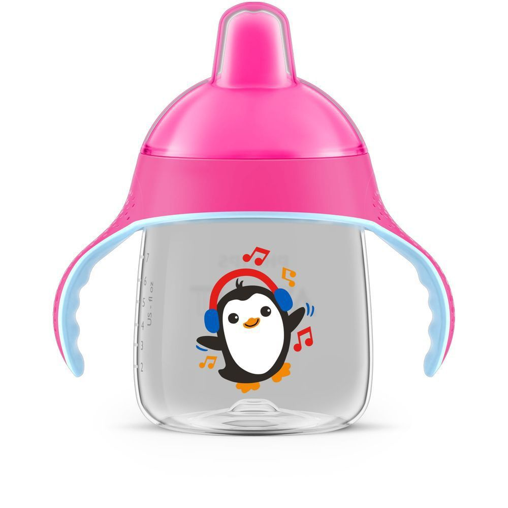 Copo Pinguim 260ml Rosa - Philips Avent