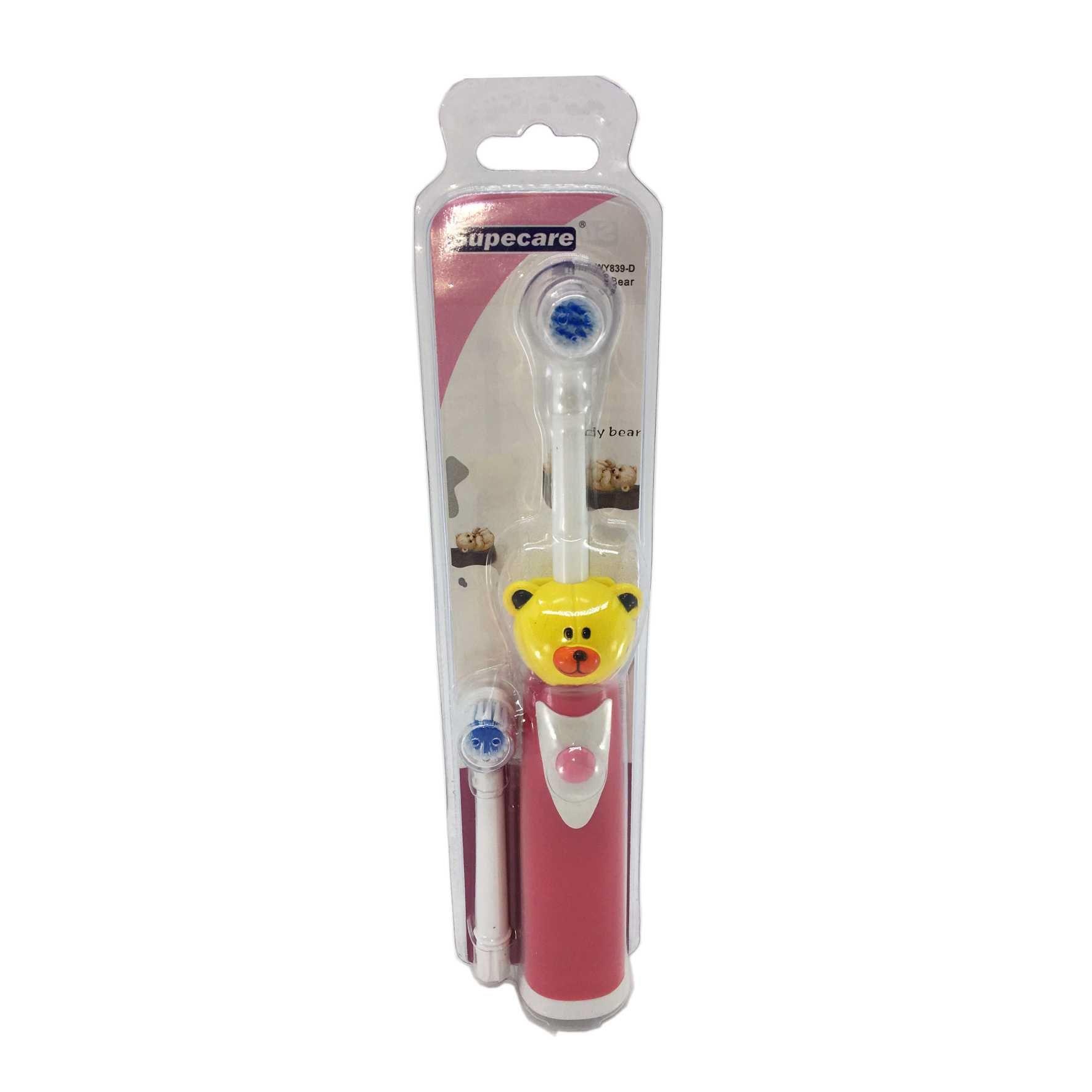 Escova de dentes elétrica a prova dágua - Urso