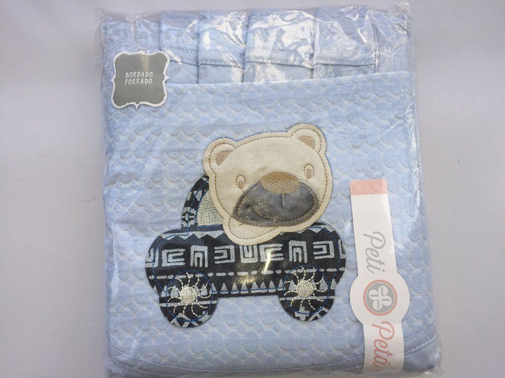 Jogo de lençol padrão americano 3pçs Urso Azul