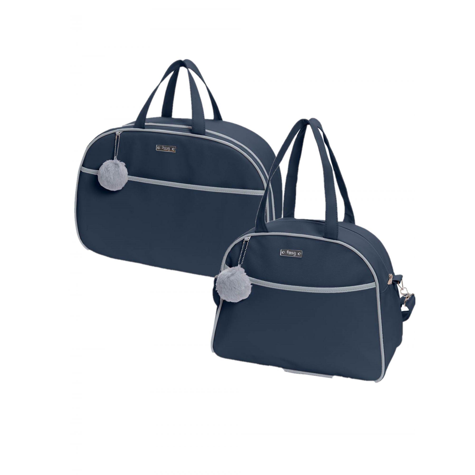 Kit bolsa de maternidade Marinho Berlim - 2 pçs - Hug (bolsa e mala)