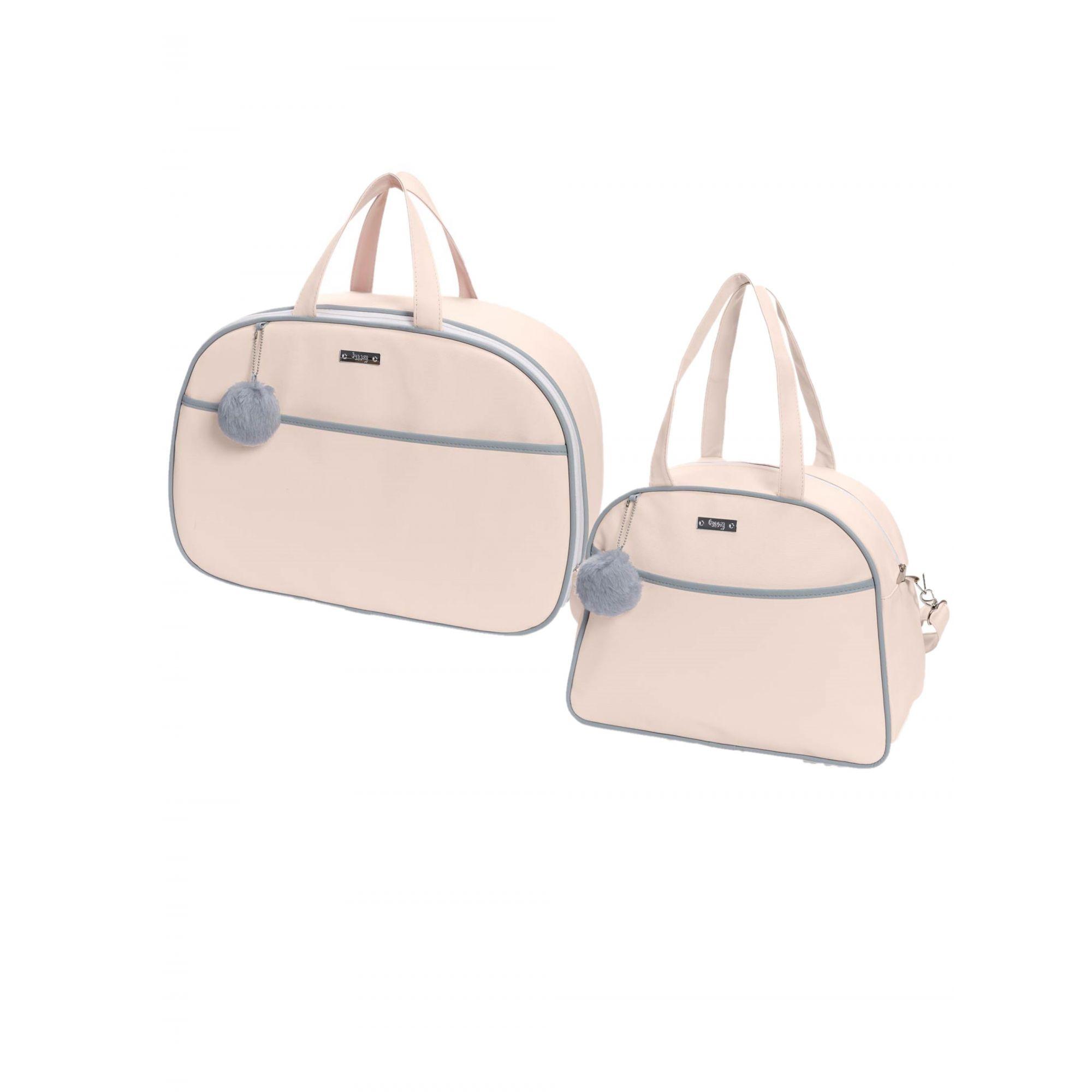 Kit bolsa de maternidade Rosa Berlim - 2 pçs - Hug (bolsa e mala)