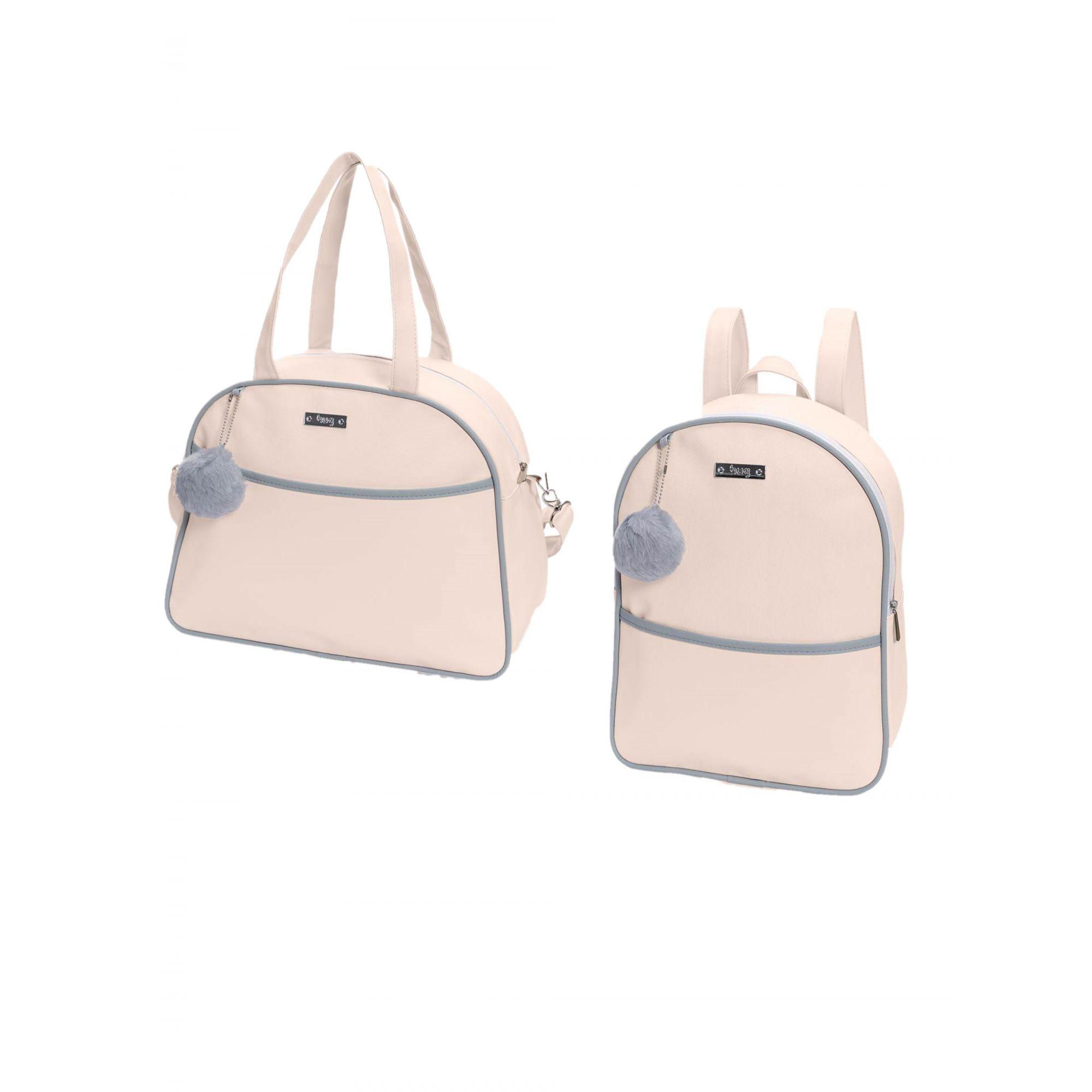 Kit bolsa de maternidade Rosa Berlim - 2 pçs - Hug (bolsa e mochila)