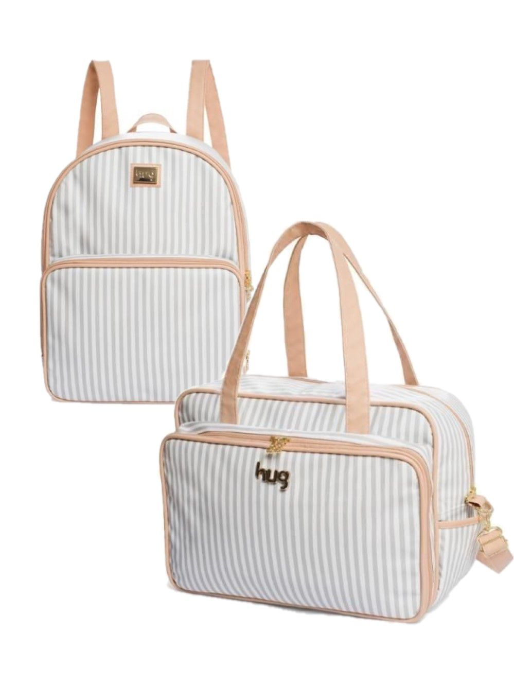 Kit Bolsa e mochila maternidade Lollipop Cinza 2 Pçs - Hug