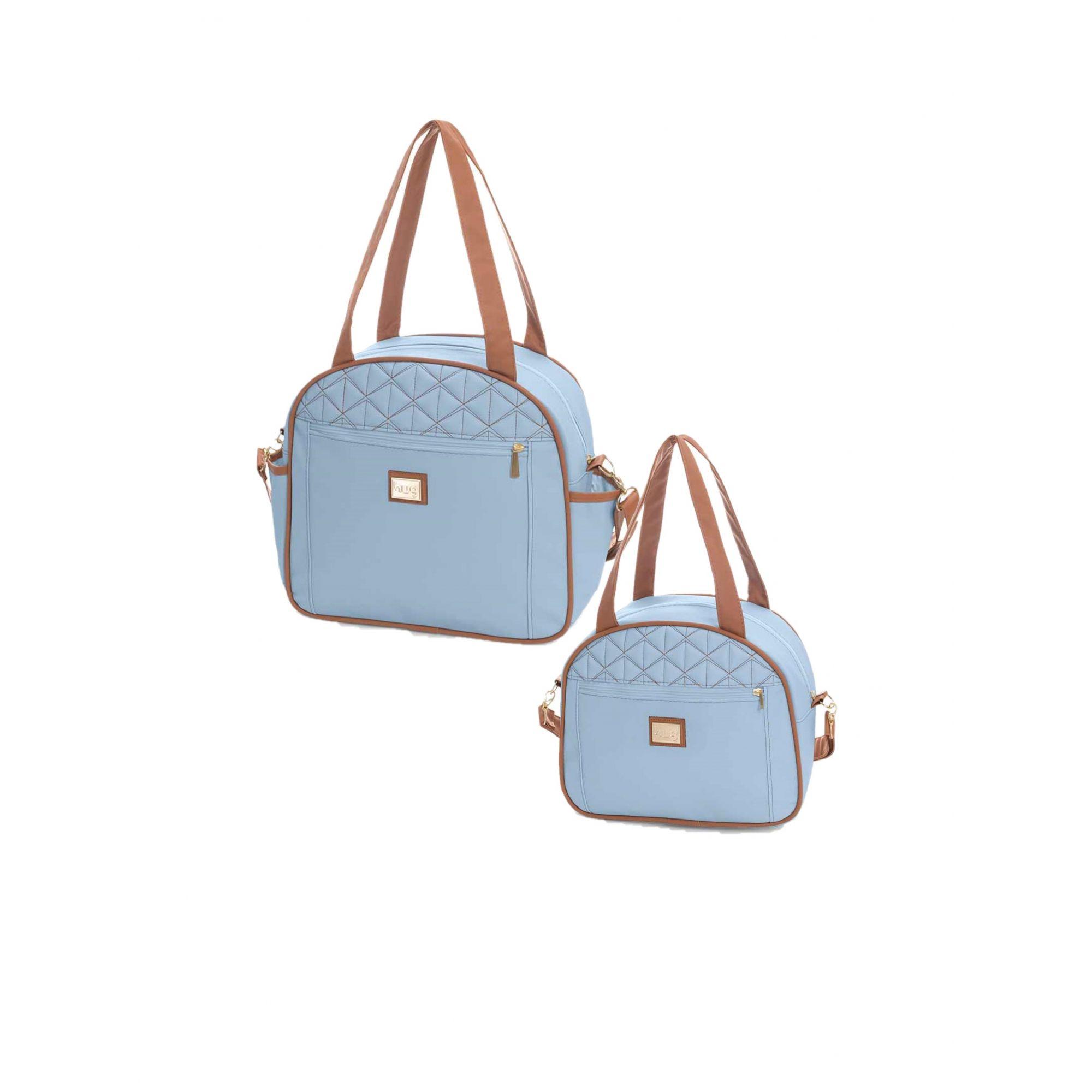Kit Bolsa maternidade Bombom Azul Bebê - 2 pçs - Hug