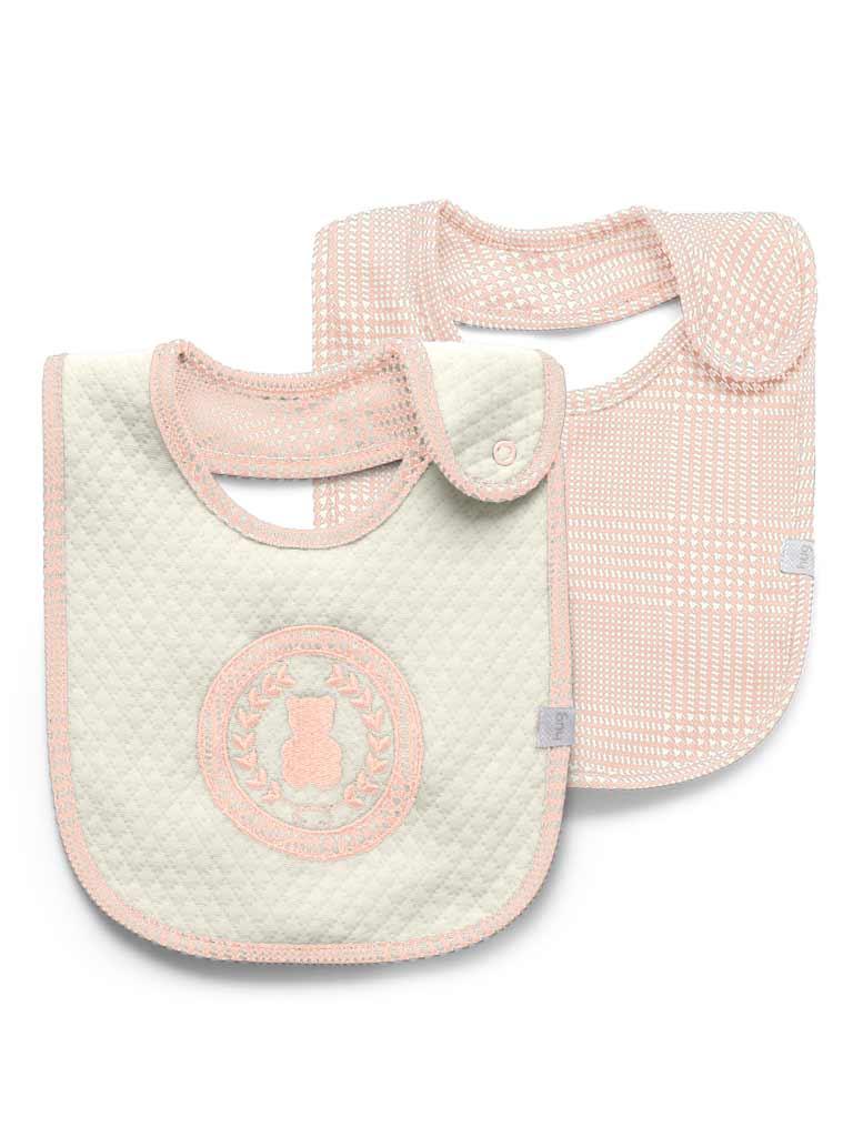 Kit babador impermeável 2 unidades Pequeno urso rosa - Hug
