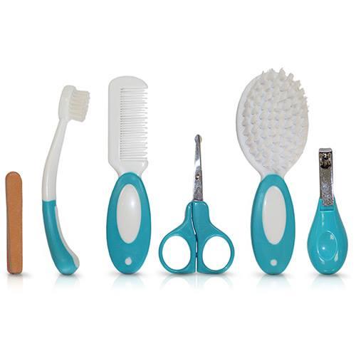 Kit de Higiene para bebês azul com cortador de unha
