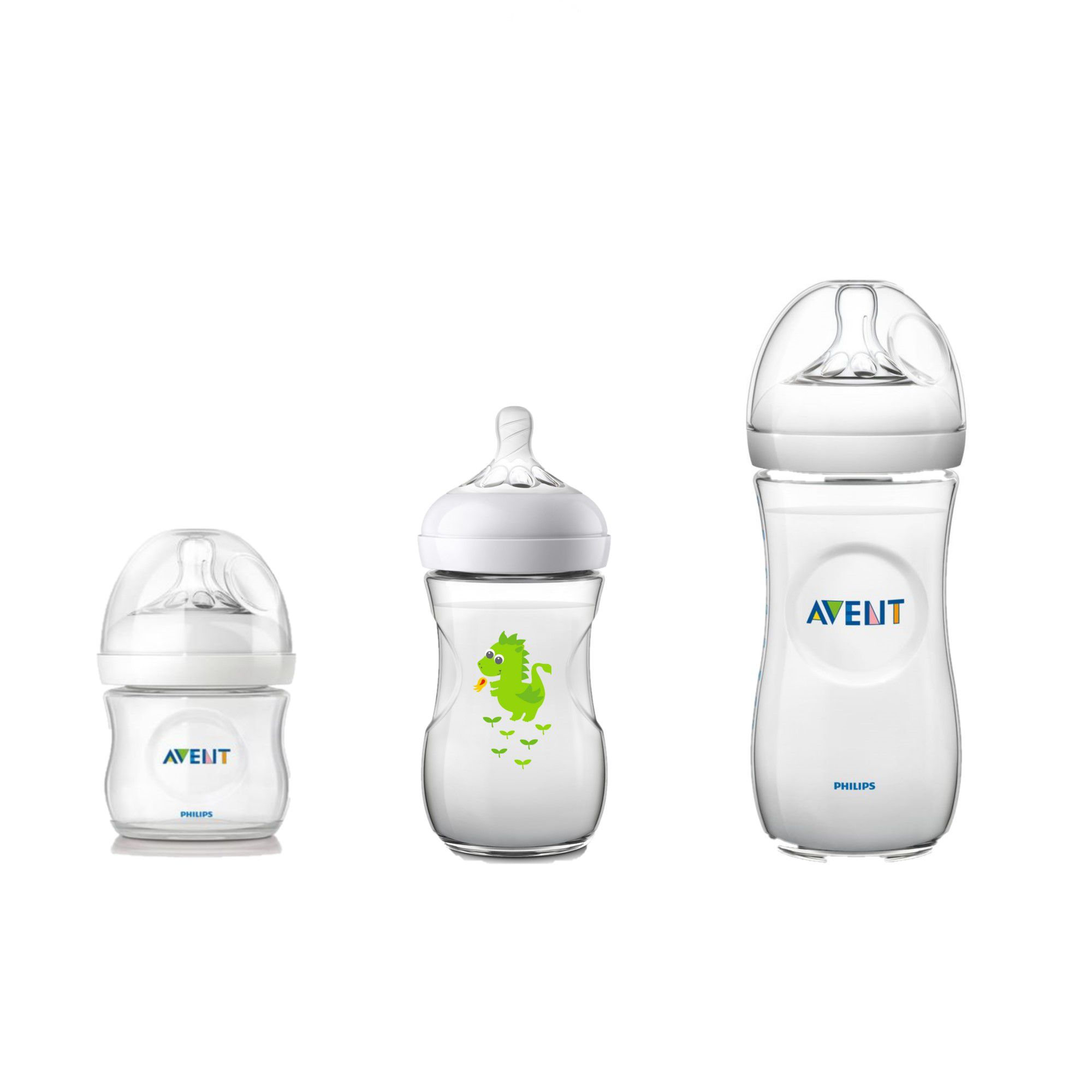 Kit Mamadeira Avent Anticólica Pétala 125ml,260ml Dragão e 330ml - Philips Avent