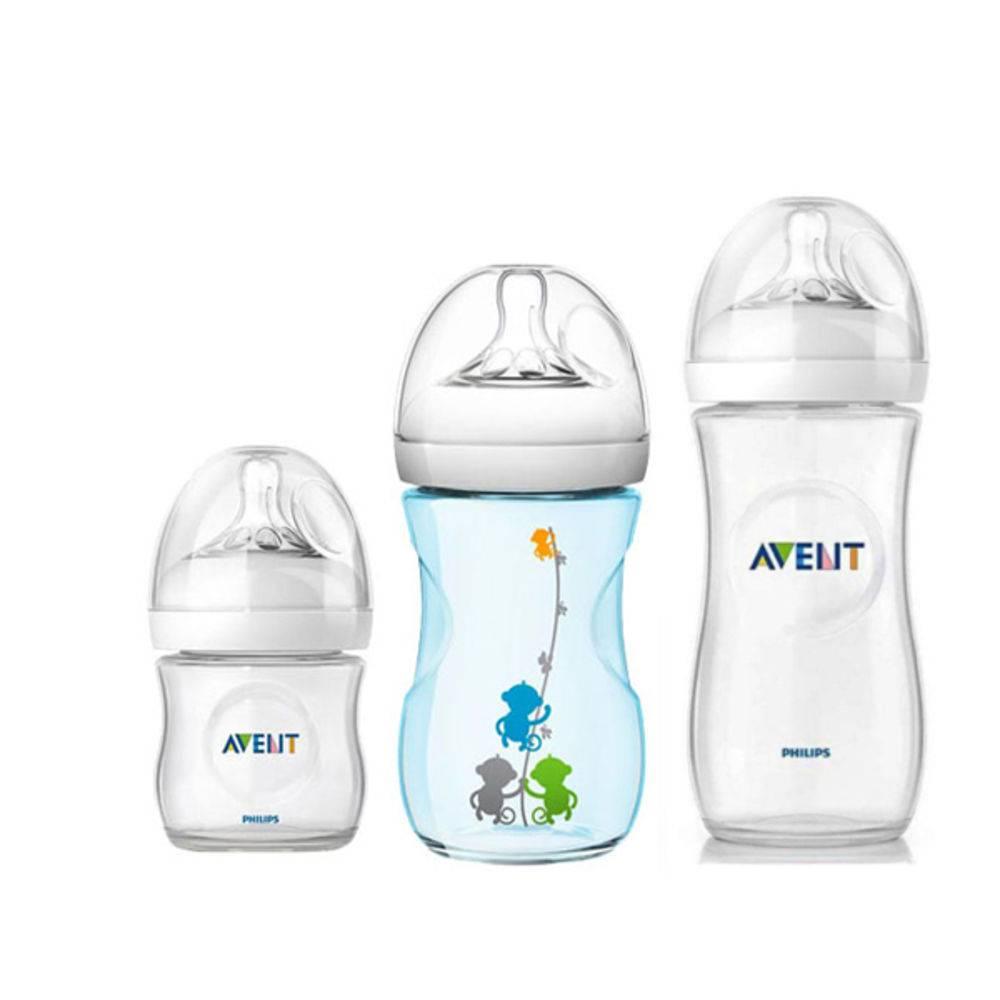 Kit Mamadeiras Avent Anticólica pétala - 125ml,260ml azul e 330 ml - Philips Avent