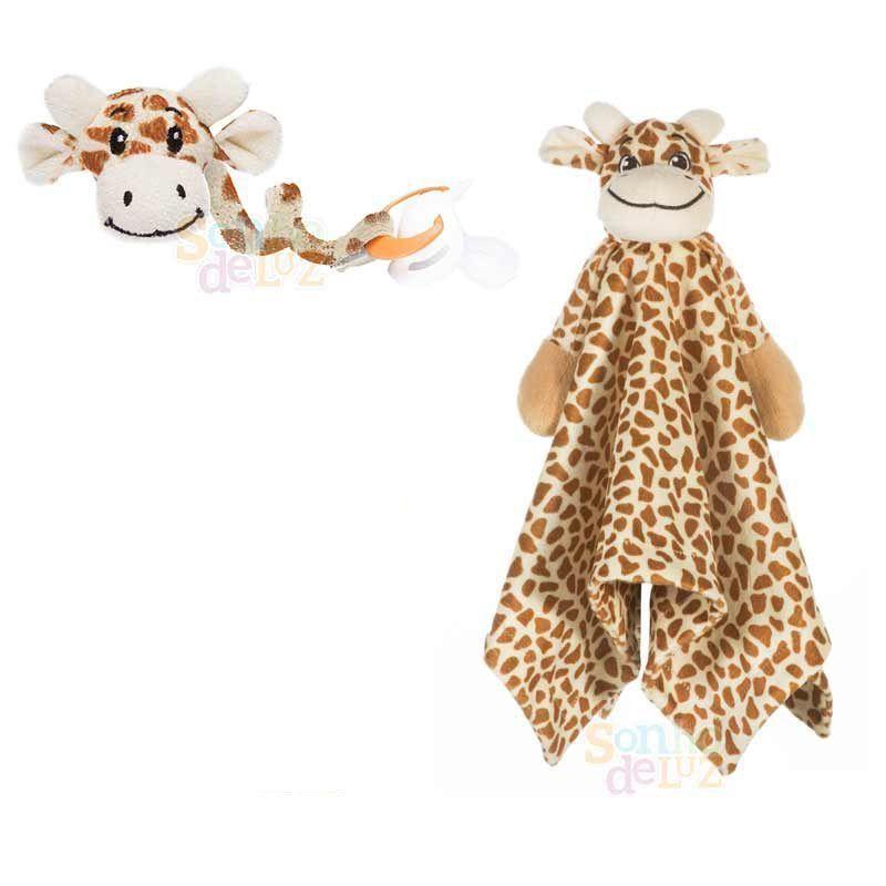 Kit Naninha + Prendedor de chupeta - Girafa