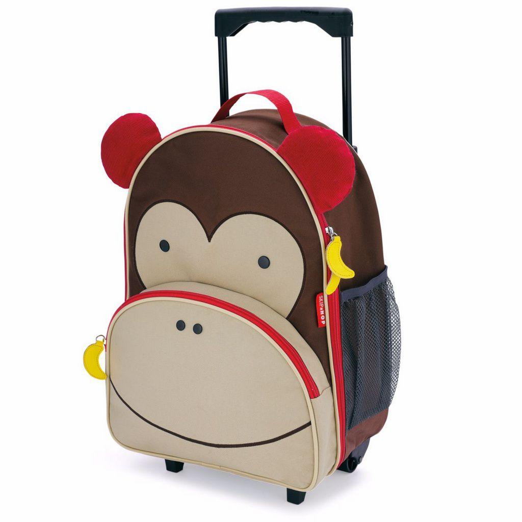 Mala de Rodinhas Skip Hop - Linha Zoo - Coleção Macaco