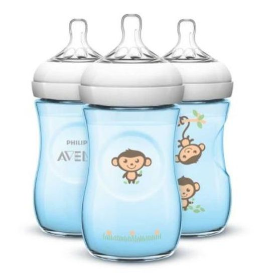 Mamadeira Avent Pétala 260ml Pack C/3 Macaco