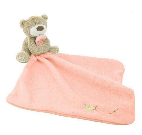 Naninha com pelúcia e paninho rosa