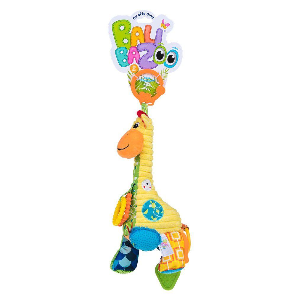 Pelúcia com mordedor e chocalho Balibazoo - Girafa